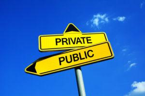 public private signs